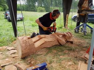 Der Denker / Holz